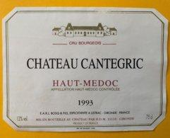 11648 -  Château Cantegric 1993 Haut-Médoc - Bordeaux