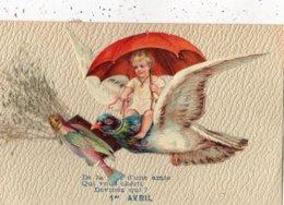 ANGES ANGELOTS 1 ER AVRIL (AVEC AJOUTIS SUR CELLULOID) - Anges