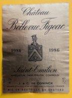 11649 -  Château Bellevue Figeac 1986 Saint-Emilion - Bordeaux
