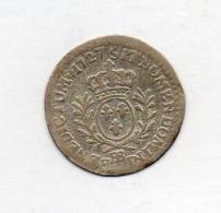 FRANCE, 6 Sols (1/20 Ecu), 1727, Silver, KM #38.4 - 987-1789 Royal