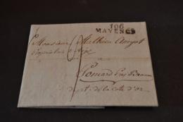 Lettre 1811 Cursive 100 MAYENCE Pour Pommard - Marcophilie (Lettres)