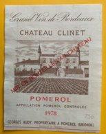 11650 -  Château Clinet 1978 Pomerol - Bordeaux
