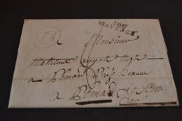 Lettre 1810 Cursive 100 MAYENCE Pour Pommard - Marcophilie (Lettres)