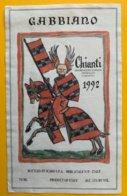 11653 - Gabbiano Chianti 1992 Chevalier - Etiketten