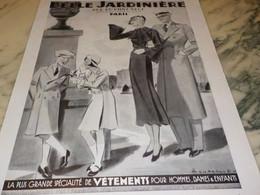 ANCIENNE PUBLICITE MAGASIN BELLE JARDINIERE 1935 - Publicité