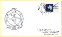 Polaire Antarctique. Opération Deep Freeze 1973. USCGC Burton Island. Timbre US Traité Sur L'Antarctique. - United States