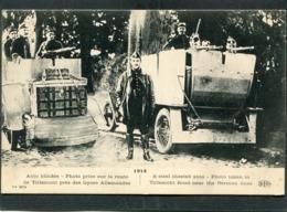 CPA - 1914 - Auto Blindée - Photo Prise Sur La Route De Tirlemont Près Des Lignes Allemandes, Animé - Guerra 1914-18