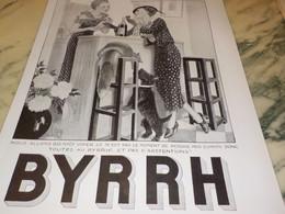 ANCIENNE PUBLICITE NOUS ALLONS VOTER ET BYRRH  1935 - Alcools