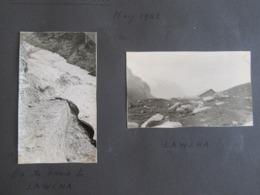 Lot De 2 Photographies Au Liechtenstein Avril 1942 - LAWENA - Glacier & Bergerie / Refuge De Montagne - Luoghi