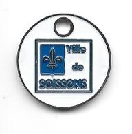 Jeton De Caddie  Ville  De  SOISSONS  Verso  1 €  ( 02 ) - Jetons De Caddies