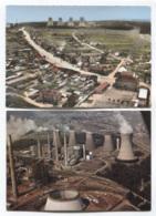 THEME - MINES - CARLING - DE CHARBON - USINE - CENTRALE ELECTRIQUE EMILE HUCHET - 2 CARTES - ETAT NEUF - Mines
