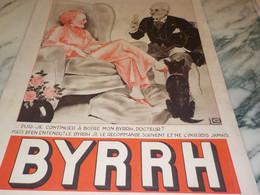 ANCIENNE PUBLICITE DOCTEUR  ET BYRRH  1935 - Alcools