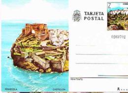Espagne. Entier Postal. Le Château De Periscola - Schlösser U. Burgen