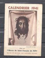 Calendrier 1941 Oeuvre De St François De Sales - Calendriers