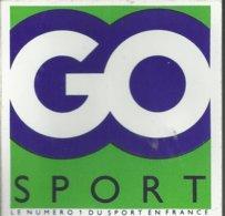 Autocollant - Go Sport - Le Numéro 1 Du Sport En France - Autocollants