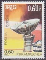 Timbre Neuf ** N° 772(Yvert) Kampuchea 1987 - Télécommunications - Kampuchea