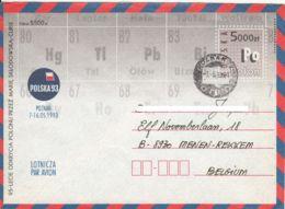 POLOGNE - 1993 - Entier Postal - Polska 93 - Découverte Du Polonium Par Marie Curie - Interi Postali