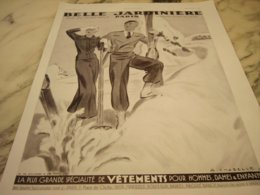 ANCIENNE PUBLICITE LA MONTAGNE MAGASIN BELLE JARDINIERE 1935 - Publicité