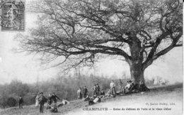 CPA De CHAMPLIVE (Doubs) - Ruine Du Château De Vaite Et Le Vieux Chène. O.Janier. 1908. TBE. - Altri Comuni