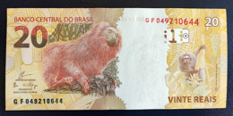 BRAZIL Banknote 2nd Real Family Series Cédula R$ 20 Reais  GF 049-210-644 Guardia UNC Monkey - Brasile