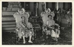 King Norodom Suramarit & Queen Consort Sisowath Kossamak Of Cambodia (1955) RPPC - Cambodge