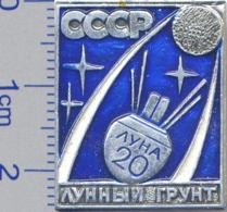 317 Space Soviet Russia Pin Luna-20 Soviet Moon Program - Space