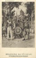 - Bas Rhin -ref-538- Schiltigheim - Centenaire Brasserie Du Pêcheur 1821-1921 - Poilu Et Soldat - Biere - Brasseries - - Schiltigheim