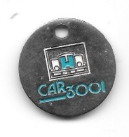 Jeton De Caddie  Garage  Automobiles  CAR 3001  Verso  CAR 3001  FACE  PARKING  CAP  3000  à  Saint-Laurent-du-Var - 06 - Jetons De Caddies