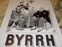 ANCIENNE PUBLICITE PROPRIETAIRE ET BYRRH  1935 - Alcools