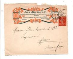 BEAU DEVANT DE LETTRE A EN TETE DE PARIS 1916 - Marcophilie (Lettres)