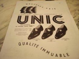 ANCIENNE PUBLICITE CHAUSSURE NOUVEAUX PRIX UNIC 1935 - Autres