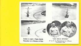 """""""LES DEUX RITONS"""" Henri PIROUELLE Acrobates Moto Police - Motos"""