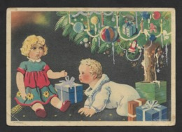 Portugal Entier Postale Nöel Voyagé Jouets Poupées Arbre De Nöel Postal Stationary Christmas Tree Toys Dolls - Dolls