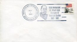 47285 U.s.a. Special Postmark 1982 TBC  Robert Koch,  Nobel Prize Prix Nobel,  Microbiology - Premio Nobel