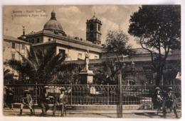 SAVONA PIAZZA SISTO IV E MONUMENTO A PIETRO GIURIA 1918 - Savona