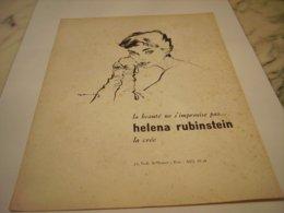 ANCIENNE PUBLICITE LA BEAUTE  DE HELENE RUBINSTEIN 1956 - Perfume & Beauty