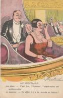 """CPA Grivoise Spectacle Théâtre Femme Avec Grosse Poitrine """"il Y A Du Monde Au Balcon"""" Humour Illustrateur (2 Scans) - Illustrators & Photographers"""