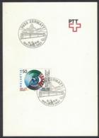 """RB138 Switzerland 1991 Zermatt """"100th Anniversary Train BVZ"""" Railway Trains Special Postmark - Trains"""