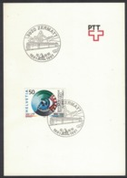 "RB138 Switzerland 1991 Zermatt ""100th Anniversary Train BVZ"" Railway Trains Special Postmark - Treni"