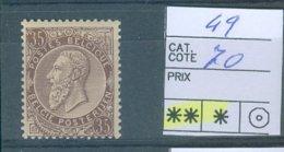 49 Xx  Côte COB 70.00€ - 1883 Leopold II