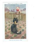 Cpa Illustration - KNICHT KENNEDY - Faulkner 1646 -- Chat Noir - Illustrators & Photographers