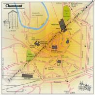 Carte Géographique, Ville : CHAUMONT (Haute-Marne), Donjon (13,8 Cm Sur 13,8 Cm) - Mapas Geográficas