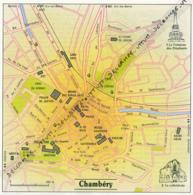 Carte Géographique, Ville : CHAMBERY (Savoie), La Cathédrale, Fontaine Des Eléphants (13,8 Cm Sur 13,8 Cm) - Mapas Geográficas