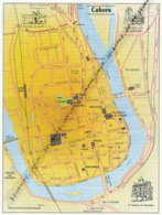 Carte Géographique, Ville : CAHORS (Lot), Maison Des Roaldès, Remparts, Dômes De La Cathédrale (17,5 Cm Sur 13,8 Cm) - Mapas Geográficas