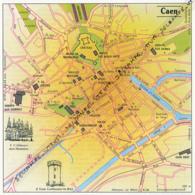 Carte Géographique, Ville : CAEN (Calvados), Abbaye-aux-Hommes, Tour Guillaume-le-Roy (13,8 Cm Sur 13,8 Cm) - Mapas Geográficas