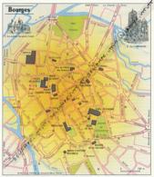 Carte Géographique, Ville : BOURGES (cher), La Cathédrale, Le Palais Jacques Coeur (16 Cm Sur 13,8 Cm) - Mapas Geográficas