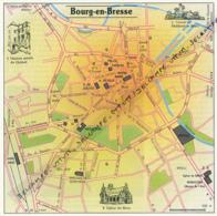 Carte Géographique, Ville : BOURG-EN-BRESSE (Ain), Maison Natale De Quinet, Gisant De Ph.. Le Beau (13,8 Cm Sur 13,8 Cm) - Mapas Geográficas