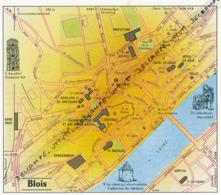Carte Géographique, Ville : BLOIS (Loir-et-Cher), Escalier François Ier, Château C. De Medicis (12 Cm Sur 13,8 Cm) - Mapas Geográficas