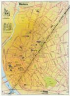 Carte Géographique, Ville : BEZIERS (Hérault), Eglise De La Madeleine, Cathédrale (19 Cm Sur 13,8 Cm) - Mapas Geográficas