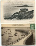 LOT 17 CP SAINT MALO Tombeau Chateaubriand Grand Bey Môle Noires Casino Sillon Quais Vue Générale Plage Bains Chateau .. - Saint Malo
